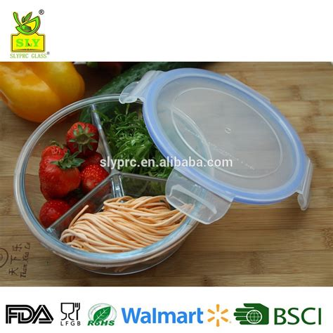 Lunch Box 3 Susun Q2 703 partition room glass food container compartment bento lunch box the divide top to the glass