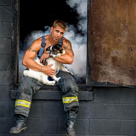 firemen with puppies source charleston firefighter calendar