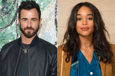 laura harrier emma stone justin theroux spotted with actress laura harrier in
