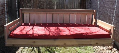 country style cedar swinging daybed traditional patio