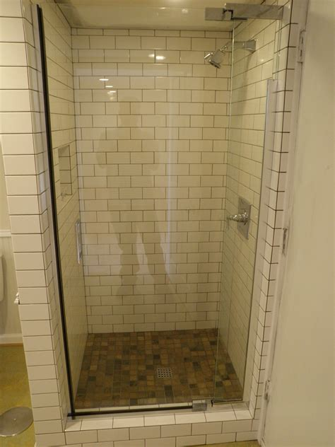 Shower Stall Glass Door Terrific Small Shower Stall Designs Decofurnish