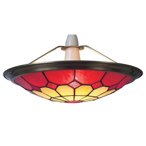 Tiffany Large Bistro Red Ceiling Light Shade Uplighter 41cms Shade Ceiling Light