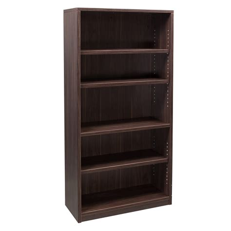 Walnut Bookcase Denmark Series 66 Inch Bookcase American Walnut