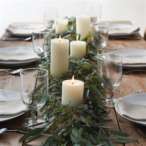 eucalyptus table runner 10 floral decorating ideas for winter