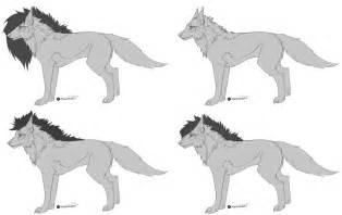 wolf template free wolf template by marangai on deviantart