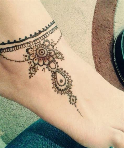 henna tattoo bracelet designs ankle tattoos henna and anklet on