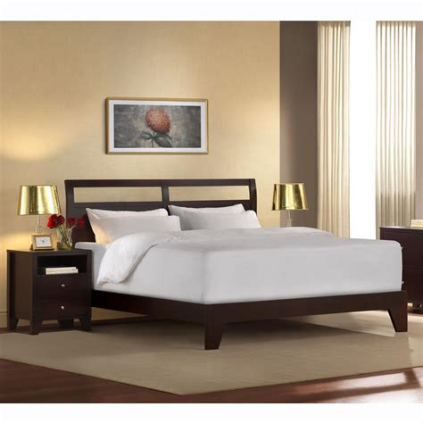 low king size bed frame solid king low profile platform bed frame decofurnish
