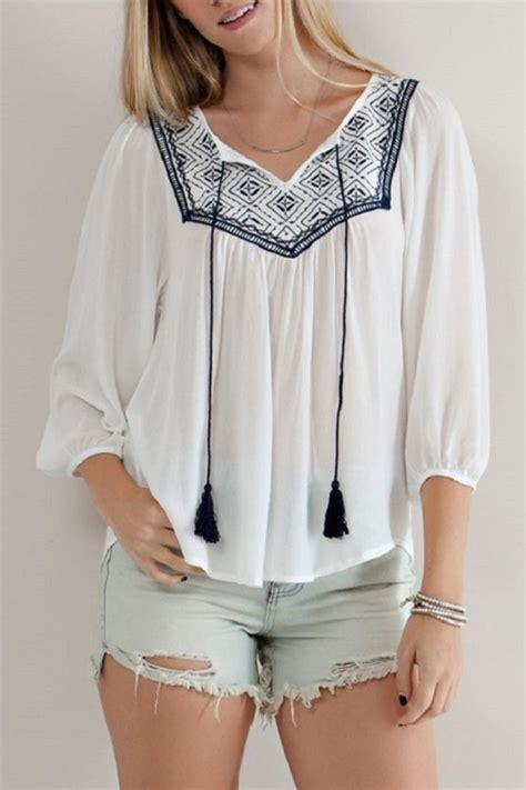 White Embroidered Blouse entro white embroidered blouse from florida by modern me