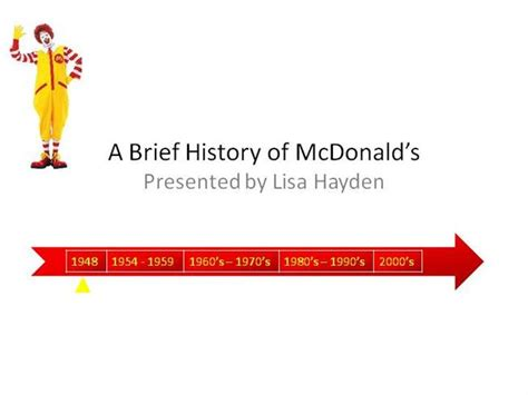 History Of Mcdonalds 6 Authorstream Mcdonalds Powerpoint Template
