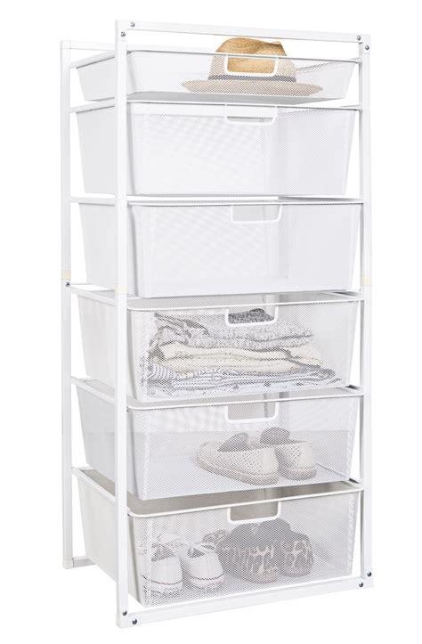 white wire mesh drawer organizer mesh drawer baskets white 6 tier from storage box
