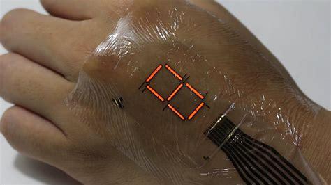 super thin electronic skin lights   digital display