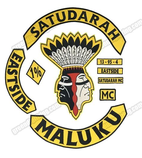 Set Mc satudarah mc eastside maluku patch set motorcycle ebay