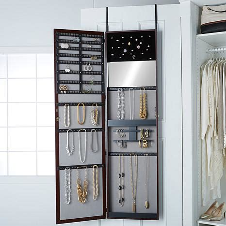 jewelry armoire over the door over the door 66 quot jumbo jewelry armoire 7978396 hsn