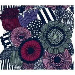 Best Home Decor Brands marimekko siirtolapuutarha violet cotton fabric repeat
