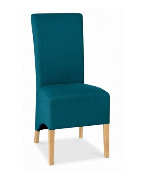 Teal Upholstered Dining Chairs Bentley Designs Oak Wing Back Teal Upholstered Dining Chair