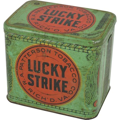 Lucky Strike Gift Card - lucky strike tobacco tin sold on ruby lane
