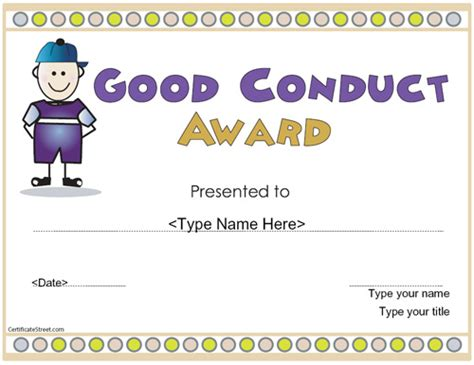 good conduct certificate template all templates deal