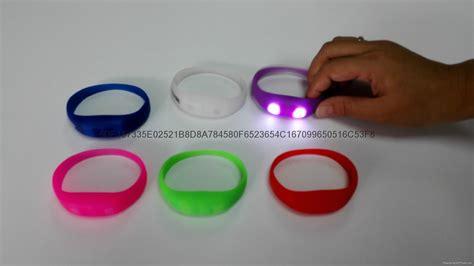 Gelang Led Sound Sensor 1 sound sensor led wristband silicone bracelet cy 543