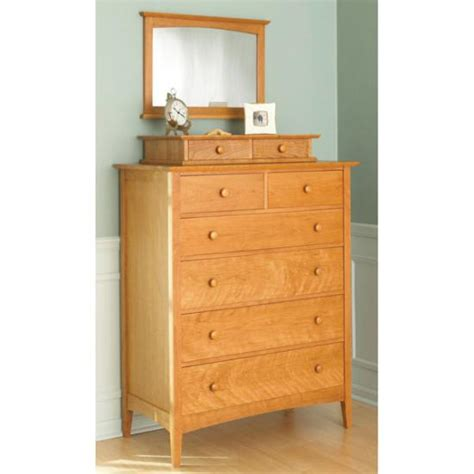 bedroom set plans woodworking pencil post shaker style dresser with valet and mirror