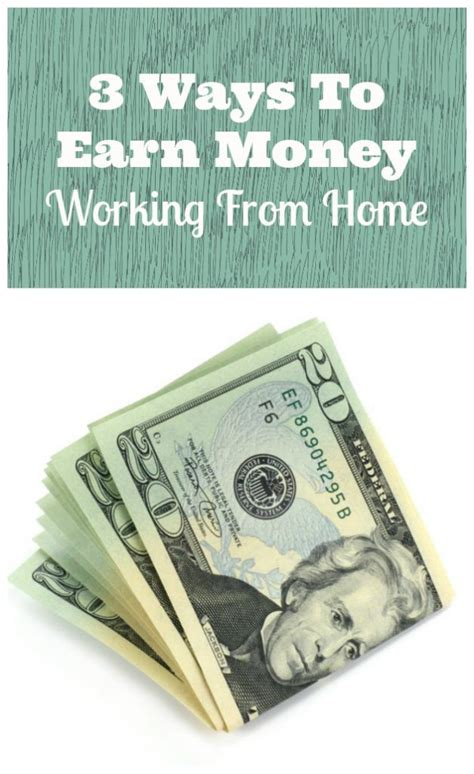 Ways To Earn Money While Working At Home 3 Ways To Earn Money Working From Home Family Focus