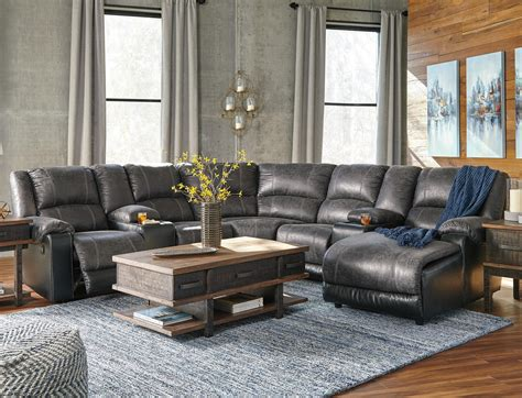 ashley leather sectional with chaise signature design by ashley nantahala faux leather