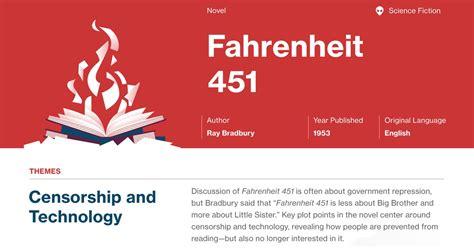 theme of fahrenheit 451 censorship theme exles in fahrenheit 451 fahrenheit 451 infographic