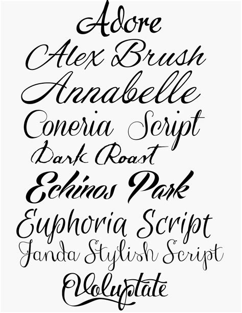 printable calligraphy fonts free calligraphy cursive font images