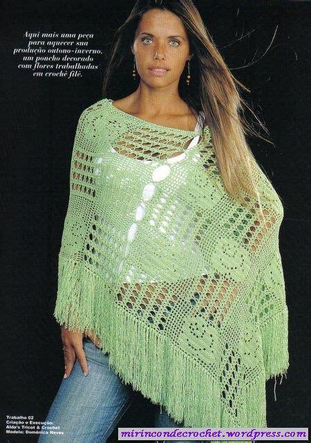 7 Beautiful Ponchos by Ponchos Mi Rincon De Crochet Crochet Shawl Ponchos