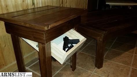 gun end table armslist for sale compartment coffee table and