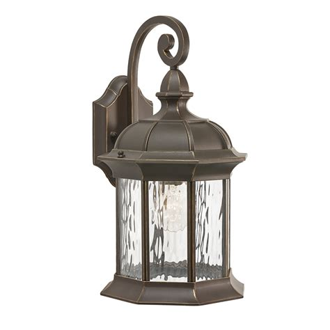 Bronze Outdoor Lighting shop kichler lighting brunswick 16 06 in h olde bronze outdoor wall light at lowes