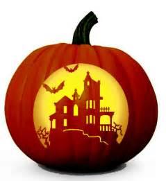 haunted house pattern free scary halloween pumpkin