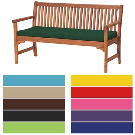 garden bench pad garden 3 seater large bench pad cushion in lime
