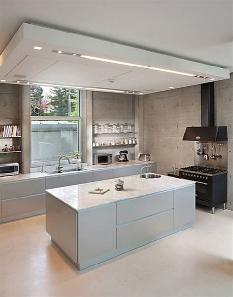 modern kitchen ceiling light interior drop soffits build blog