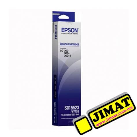Printer Epson Original Lq300 Lq 300 Lq 300 Lq 300ii New epson 7753 lq300 printer ribbon s015506 original