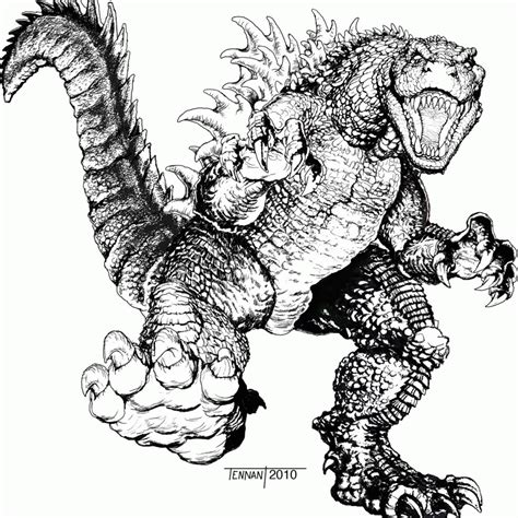 godzilla coloring page  printable coloring pages