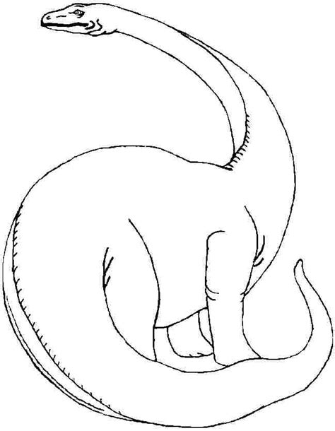 free neck dinosaur coloring pages