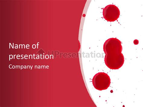 powerpoint themes free download blood dribble mal de sang mod 232 les powerpoint id 0000017790