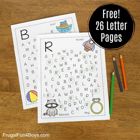 printable alphabet letter search printable alphabet letter search and find pages