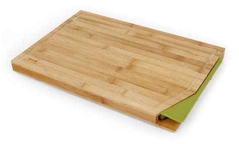cutting board with trays neoflam cut2tray bamboo cutting board with tray green