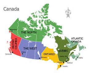 regional map of canada 60 canadian slang words from different provinces and