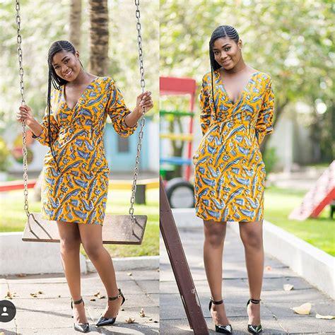 latest  ankara short gown styles   bright