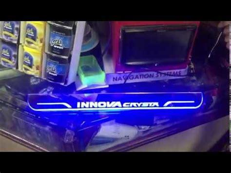 Innova Sill Plate Sing Plastik toyota innova crysta scuff plates with blue led innovacrysta door sill plates