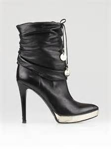 gucci black leather high heel boots size 8 5 39 yoogi s