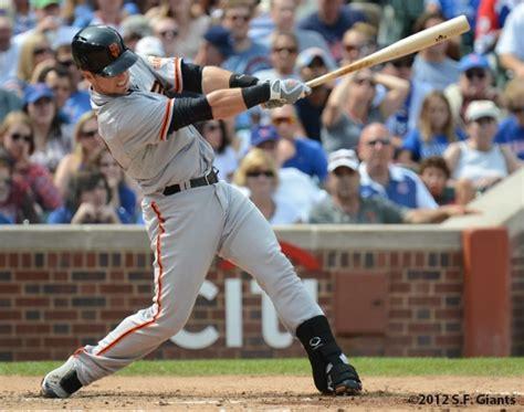 buster posey swing major league baseball friday oakland a s vs san francisco