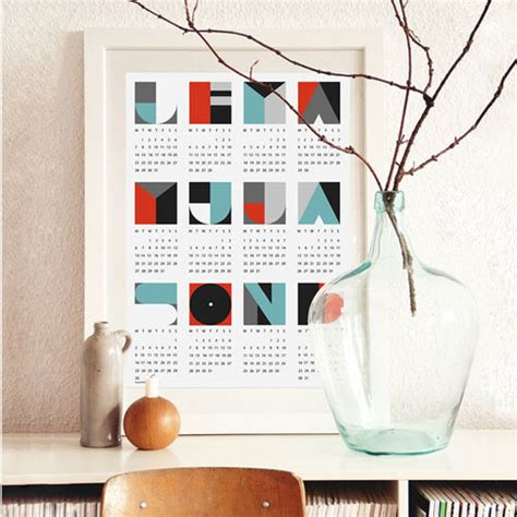 calendar design best the best 2013 modern calendars design milk