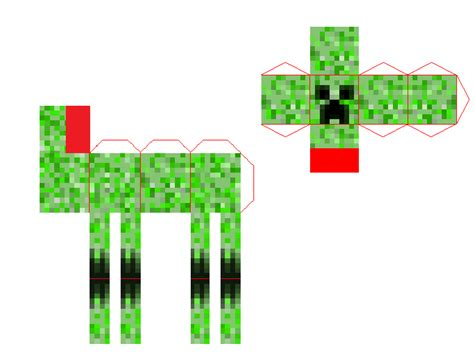 Minecraft Papercraft Mutant - papercraft mini mutant creeper