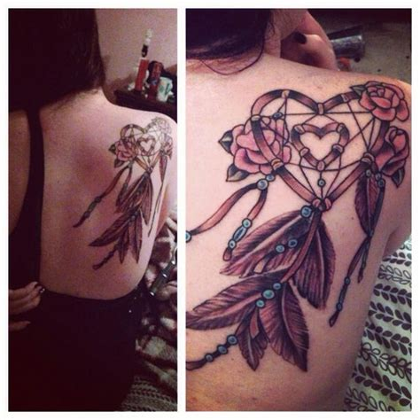 heart dreamcatcher tattoo my dreamcatcher ideas