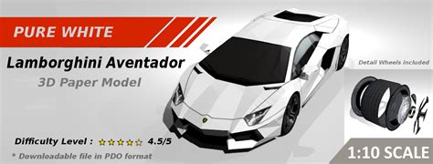 Papercraft Car Templates - best papercraft car template aventador inspired 3d