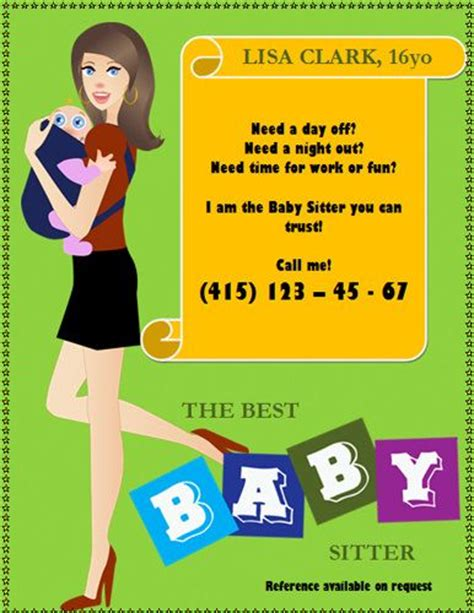 17 Best Images About Babysitting Flyer Template On Pinterest Mothers Funny And Babysitters Make Your Own Flyers Templates