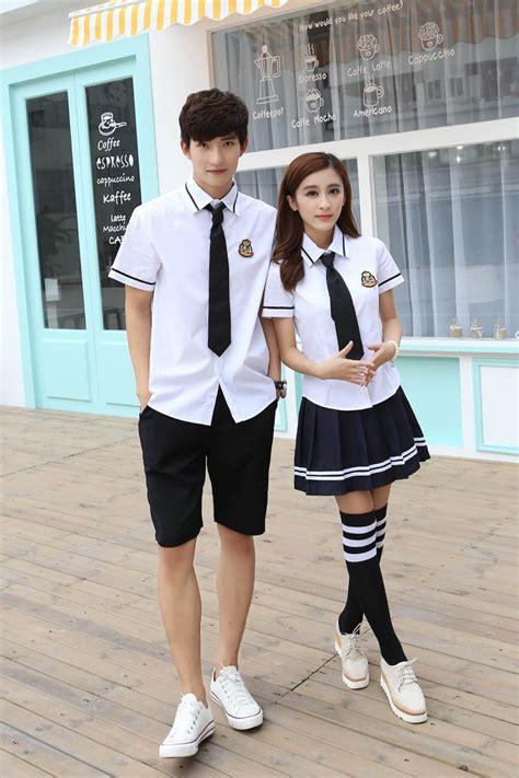 Kemeja Anime Casual Cotton Km Kn 15 popular korean school buy cheap korean school